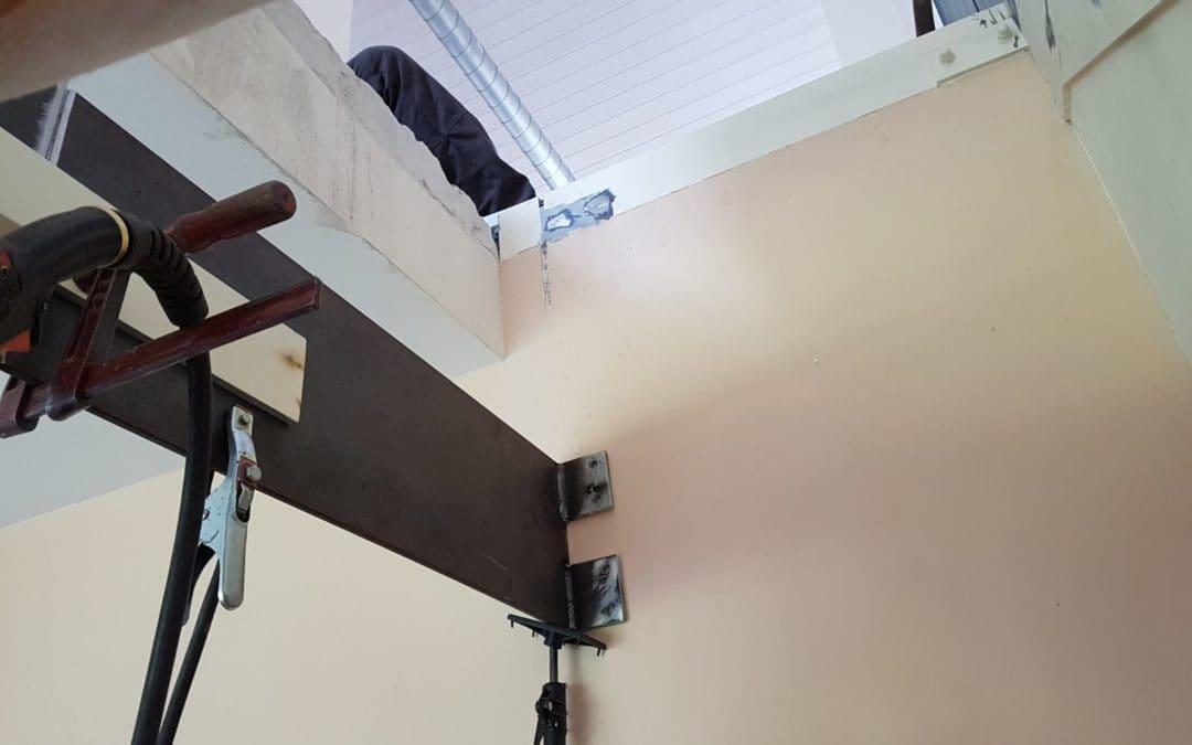 Modification support d'escalier