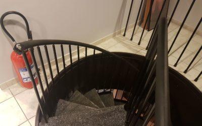 Réparation escalier en acier